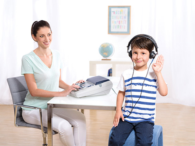 The MA 28 audiometer for hearing tests for children