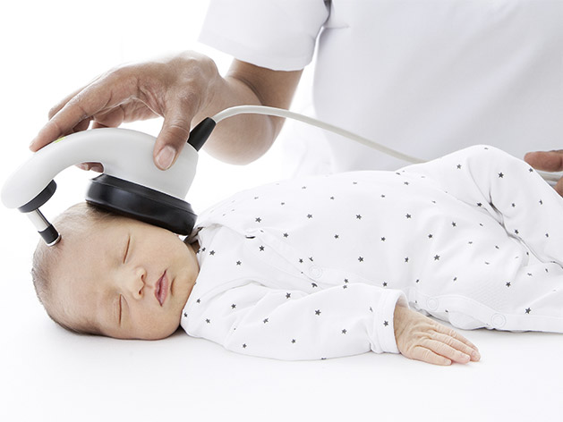 the only newborn hearing screener that performs fast abr screening without using expensive uncomfortable disposables