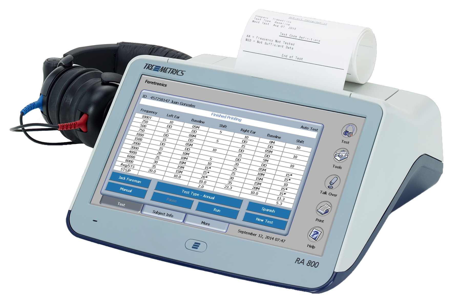 Tremetrics Ra 500 Audiometer Between The Two No One Is