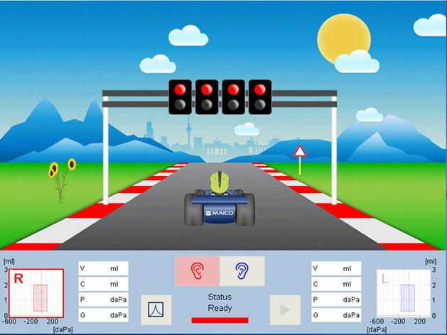 racecar-test-start-screen